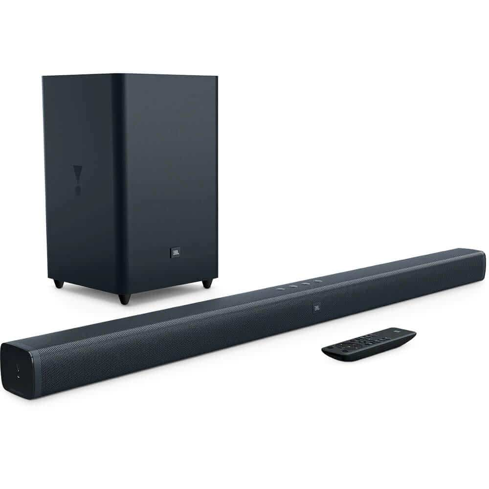 JBL Bar 2.1 Home Theater Starter System with Soundbar and Wireless Subwoofer with Bluetooth