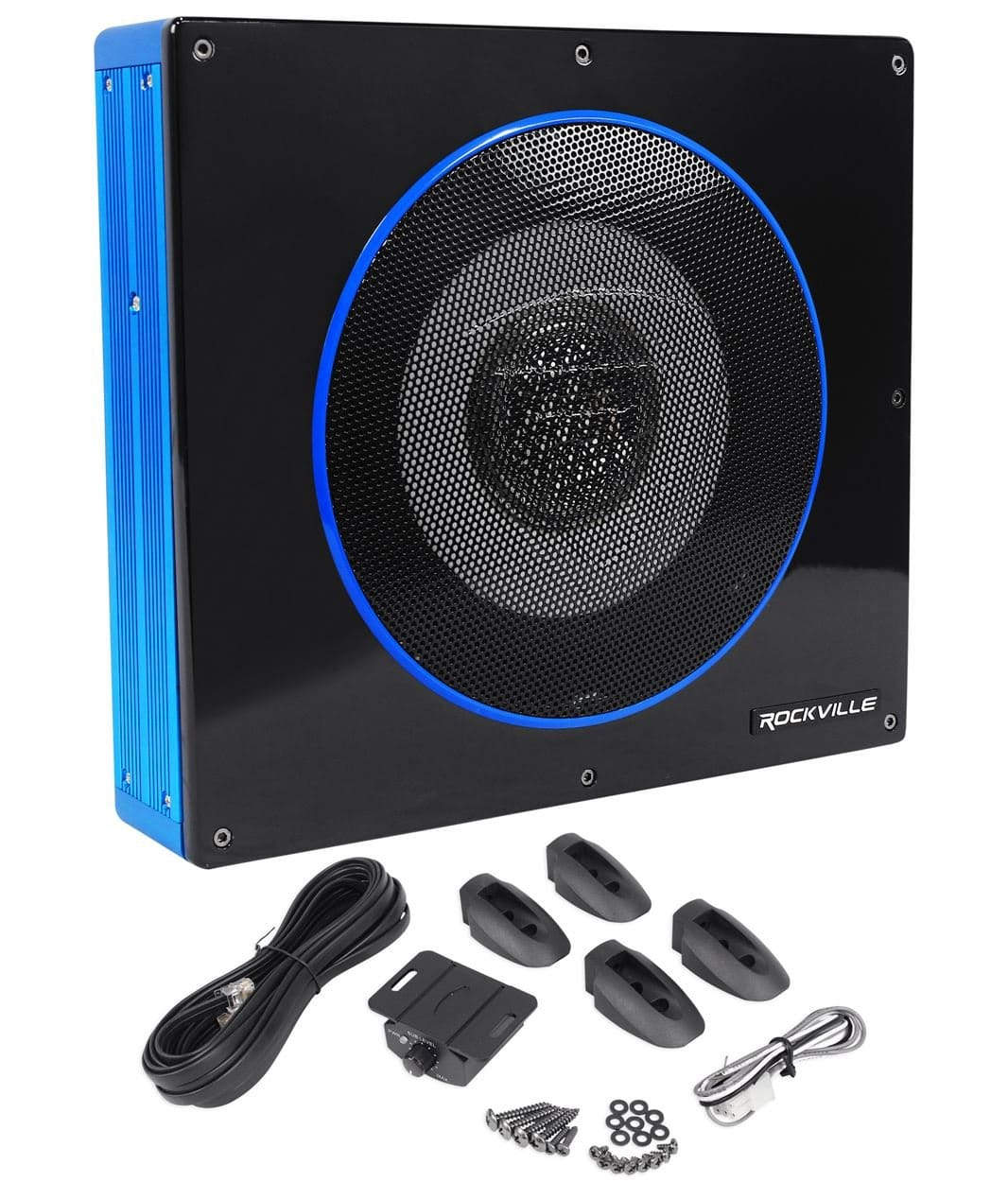 Under-Seat Active-Powered Car Subwoofer