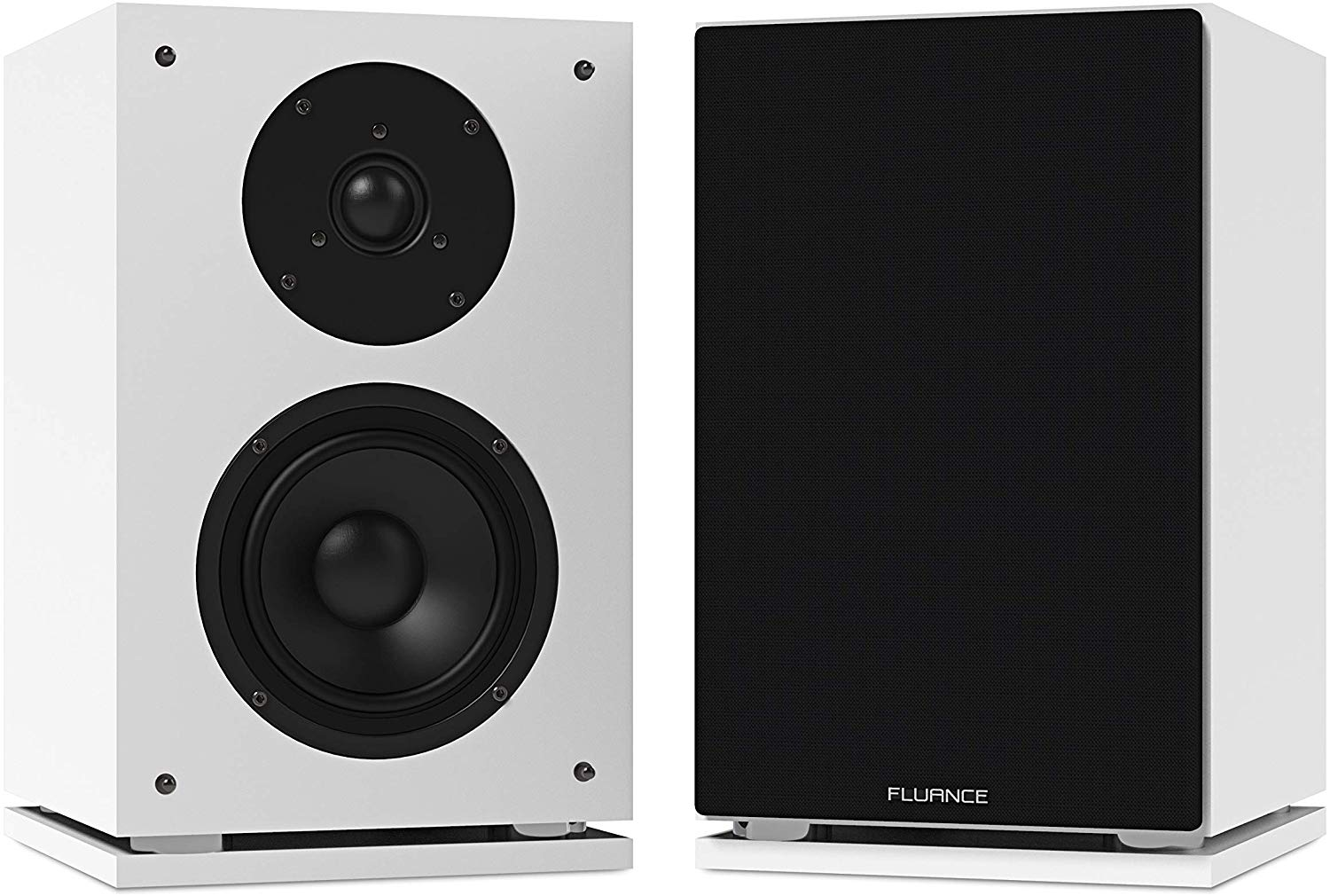 best cheap bookshelf speakers on the market - Fluance SX6WH High Definition Two-Way Bookshelf Loudspeakers