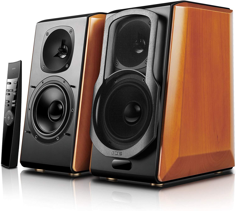 best self-powered Bluetooth bookshelf speakers - Edifier S2000 Pro Powered Bluetooth Bookshelf Speakers