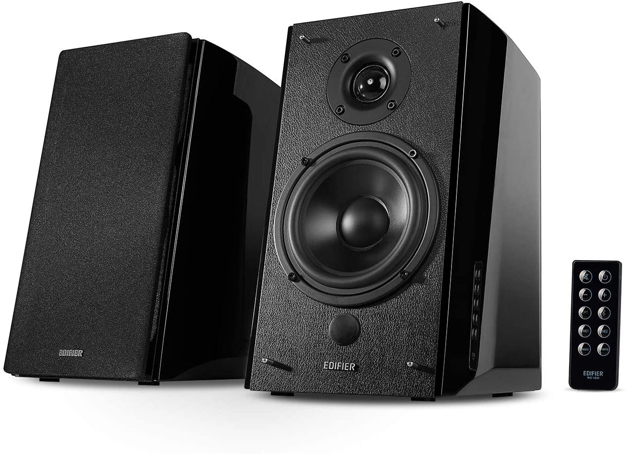 Best High-End Option: Edifier R2000DB Powered Bluetooth Bookshelf Speakers